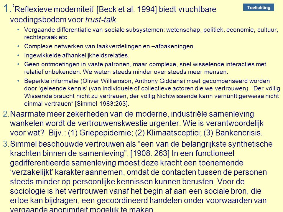 'Reflexieve moderniteit' [Beck et al
